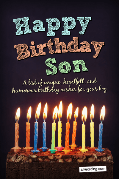 Happy Birthday To My Son Images : happy, birthday, images, Happy, Birthday,, Birthday, Wishes, AllWording.com