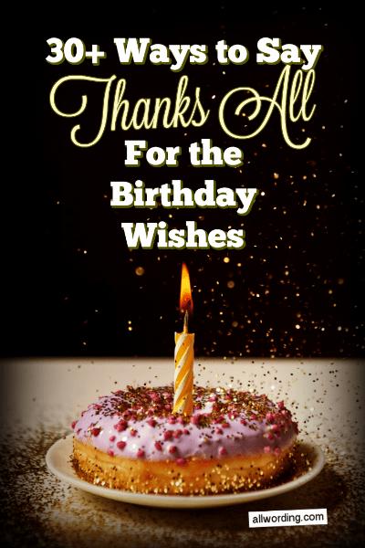 Happy Birthday Thank You Quotes : happy, birthday, thank, quotes, Thank, Birthday, Wishes, AllWording.com