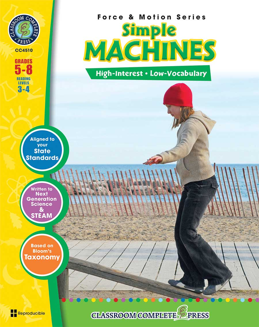 hight resolution of Simple Machines - Grades 5 to 8 - Print Book - Lesson Plan - Classroom  Complete Press
