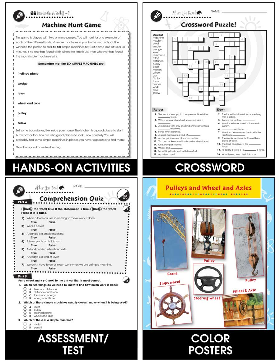 medium resolution of Simple Machines - Grades 5 to 8 - Print Book - Lesson Plan - Classroom  Complete Press