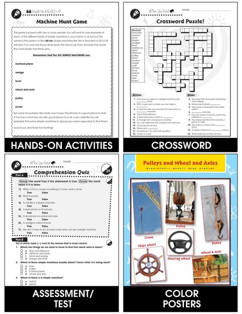small resolution of Simple Machines - Grades 5 to 8 - Print Book - Lesson Plan - Classroom  Complete Press