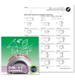 Geometry: Drill Sheet Sample Gr. 6-8 - WORKSHEET - Grades 6 to 8 - eBook -  Worksheet - Classroom Complete Press [ 900 x 900 Pixel ]