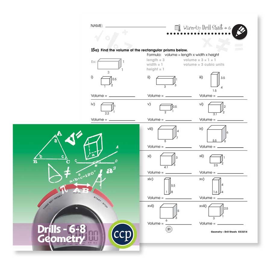 medium resolution of Geometry: Drill Sheet Sample Gr. 6-8 - WORKSHEET - Grades 6 to 8 - eBook -  Worksheet - Classroom Complete Press