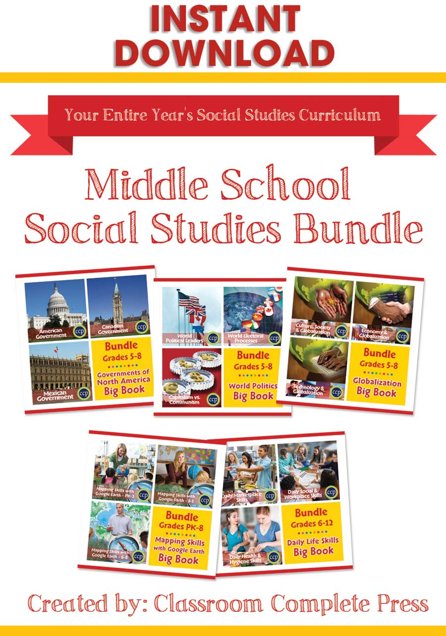 hight resolution of Middle School Social Studies Bundle - Grades PK to 12 - eBook - Lesson Plan  - Classroom Complete Press