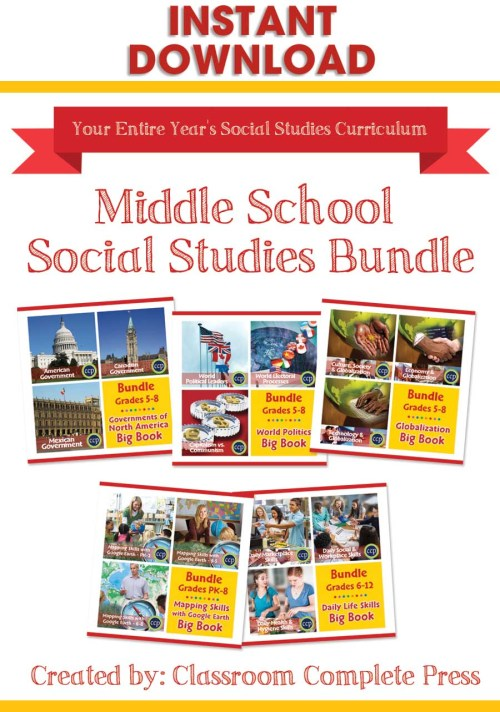 small resolution of Middle School Social Studies Bundle - Grades PK to 12 - eBook - Lesson Plan  - Classroom Complete Press