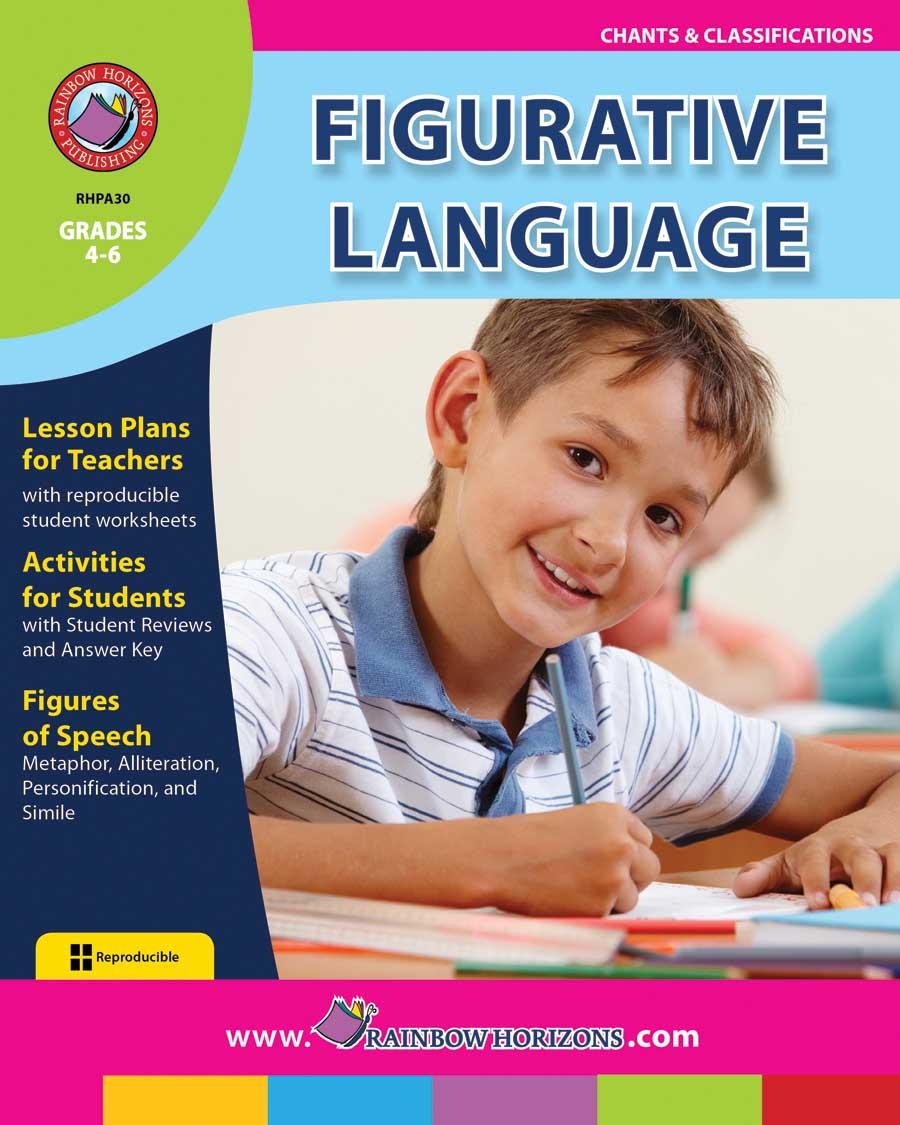medium resolution of Figurative Language - Grades 4 to 6 - Print Book - Lesson Plan - Classroom  Complete Press