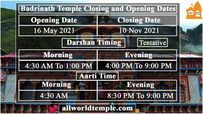 Badrinath-Temple-Closing-and-Opening-Dates