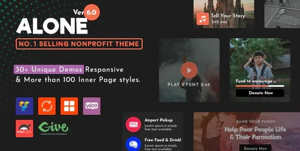 Read more about the article Alone 7.2.1 NULLED – Charity Multipurpose WordPress Theme
