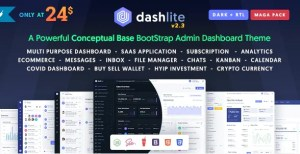 Read more about the article DashLite 2.4.0 – Bootstrap Responsive Admin Dashboard Template