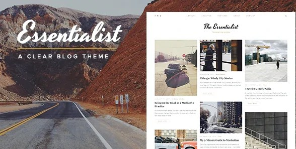 You are currently viewing Essentialist 1.3.1 – A Narrative WordPress Blog Theme