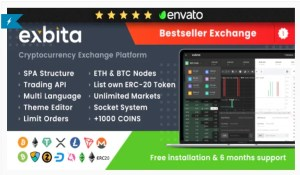 Read more about the article Exbita 2.2.2 Nulled – Cryptocurrency Exchange Script. Exchange Bitcoin