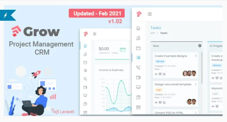 You are currently viewing Grow CRM 1.04 – Laravel Project Management