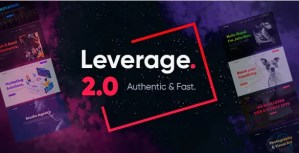 Read more about the article Leverage 2.1.2 – Creative Agency & Portfolio WordPress Theme