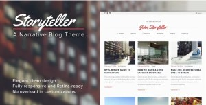 Read more about the article Storyteller 1.5 – A Narrative WordPress Blog Theme