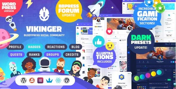 You are currently viewing Vikinger 1.9.1.1 – BuddyPress and GamiPress Social Community
