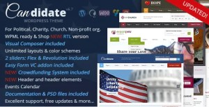 Read more about the article Candidate 6.7 NULLED – Political/Nonprofit/Church WordPress Theme