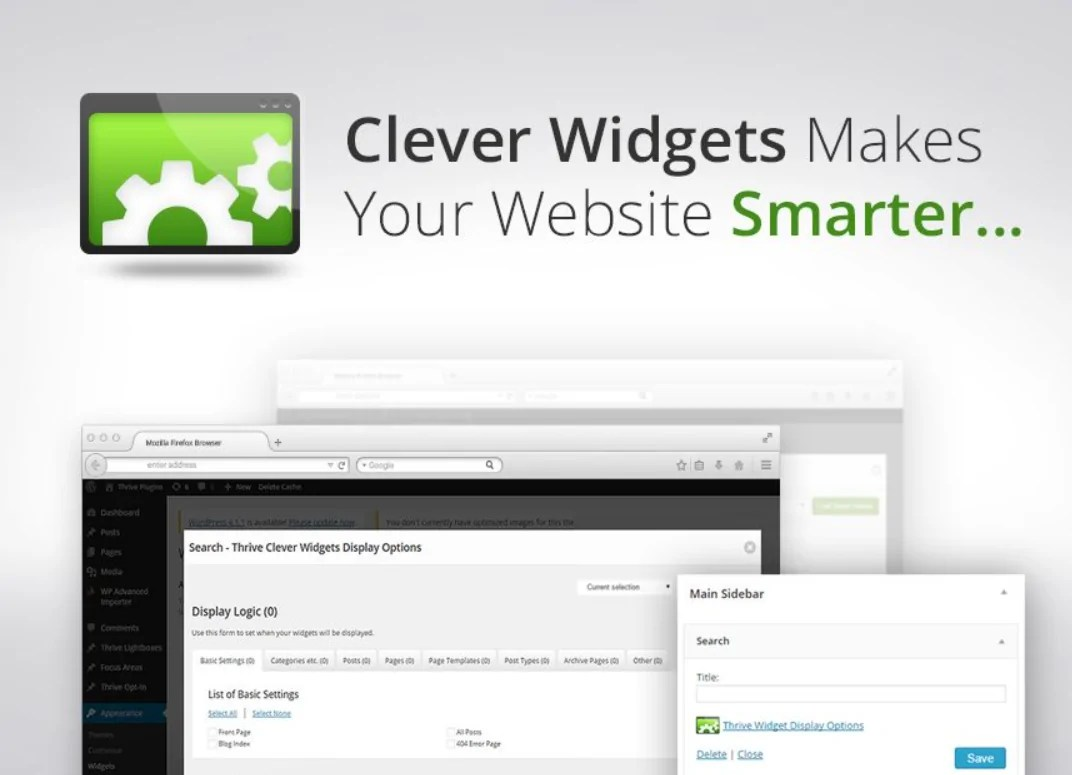 You are currently viewing Thrive Clever Widgets 2.5 NULLED – Smart Widgets For WordPress