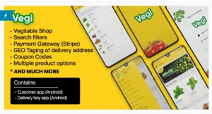 Read more about the article Vegi 1.0 – The Ultimate Grocery – Food – Milk Ordering app with Delivery boy & Admin