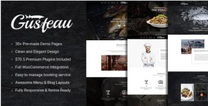 Read more about the article Gusteau 1.7.9 – Elegant Food – Coffee and Restaurant WordPress Theme