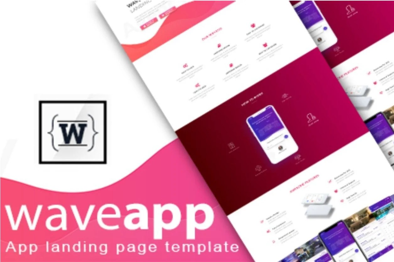 You are currently viewing WaveApp – App landing Bootstrap 4 Html Template