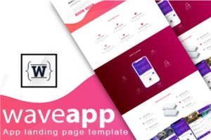 Read more about the article WaveApp – App landing Bootstrap 4 Html Template