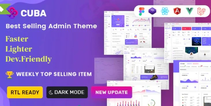 You are currently viewing Cuba 3.2.2 – VueJS & Laravel Admin Dashboard Template