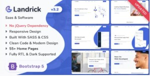 Read more about the article Landrick 3.2.0 – Saas & Software Bootstrap 5 Landing Page Template