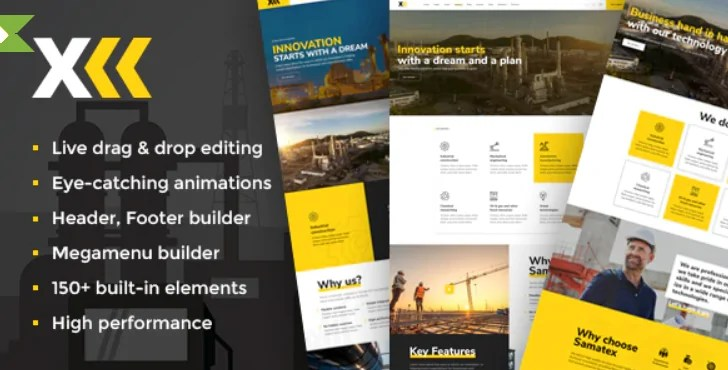 You are currently viewing Samatex 3.1 – Industrial WordPress Theme + Woocommerce