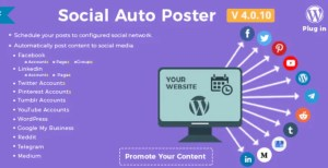 Read more about the article Social Auto Poster 4.0.12 Nulled – WordPress Plugin