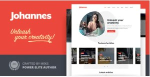 Read more about the article Johannes 1.3.3 – Personal Blog Theme for Authors and Publishers
