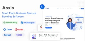 Read more about the article Aoxio 1.2 – SaaS Multi-Business Service Booking Software