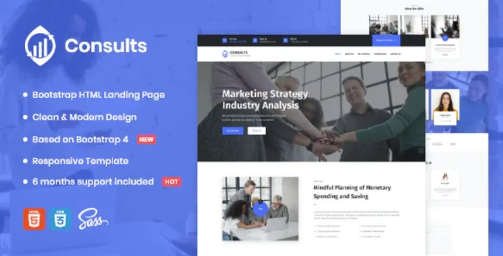 You are currently viewing Consults 1.0 – Consulting and Finance HTML Landing Page Template