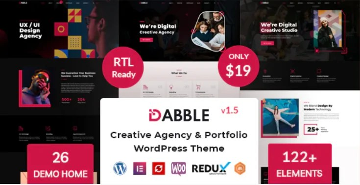 You are currently viewing Dabble 1.5 – Creative Agency & Portfolio WordPress Theme