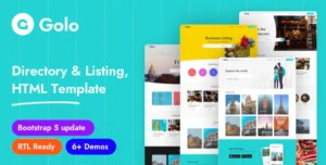 Read more about the article HTML Golo 1.0.4 – Directory Listing HTML Template