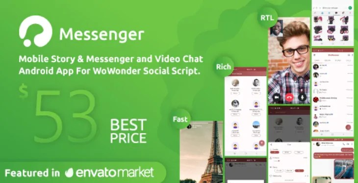 You are currently viewing WoWonder Android Messenger 3.7 – Mobile App for WoWonder Social Script