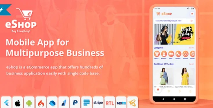 You are currently viewing eShop 2.0.4 – Flutter E-commerce Full App