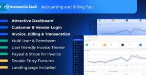 Read more about the article AccountGo SaaS 3.4 NULLED – Accounting and Billing Tool