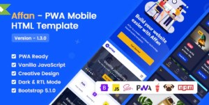 Read more about the article Affan 1.3 – PWA Mobile HTML Template