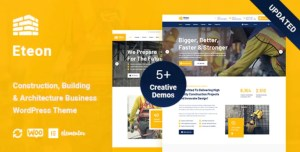 Read more about the article Eteon 1.0.6 – Construction And Building WordPress Theme