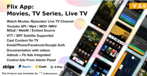 Read more about the article Flix App Movies 2.4 – TV Series – Live TV Channels – TV Cast
