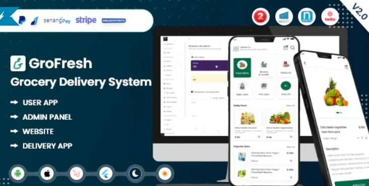 Read more about the article GroFresh 2.0 NULLED – App and Web with Laravel Admin Panel