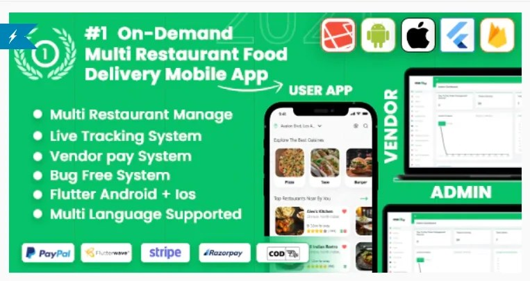 You are currently viewing MealUp 5.0 NULLED – Multiple Restaurants food Delivery Flutter App