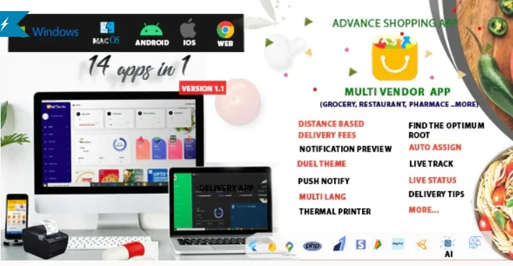 You are currently viewing Multi-Vendor 1.1 – Food, Grocery, Pharmacy & Courier Delivery App