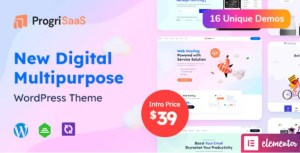 Read more about the article ProgriSaaS 1.0 – Creative Landing Page WordPress Theme