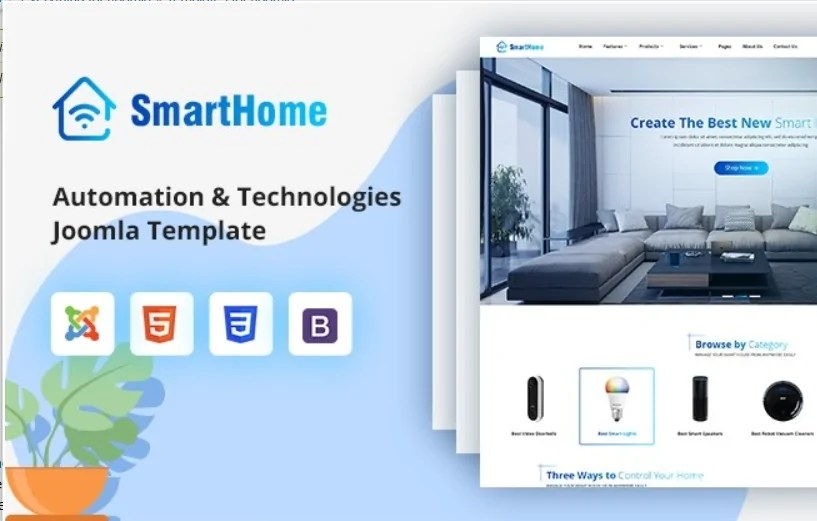 Read more about the article Sj SmartHome 3.10 – Joomla smart home template