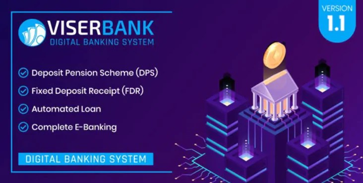 Read more about the article ViserBank 1.1 NULLED – Digital Banking System