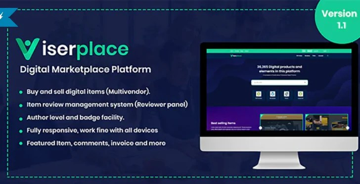 Read more about the article ViserPlace 1.1 NULLED – Digital Marketplace Platform