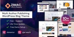 Read more about the article Zimac 1.0 – Multi Author Publishing WordPress Theme
