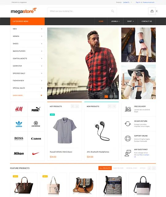 You are currently viewing JA Megastore 2.0.1 – Responsive eCommerce Joomla Template