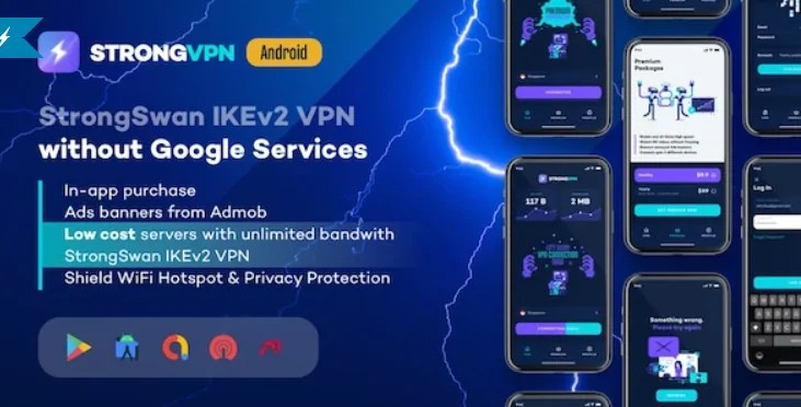 You are currently viewing StrongVPN 1.4 – StrongSwan IKEv2 VPN stable & free VPN proxy for Android